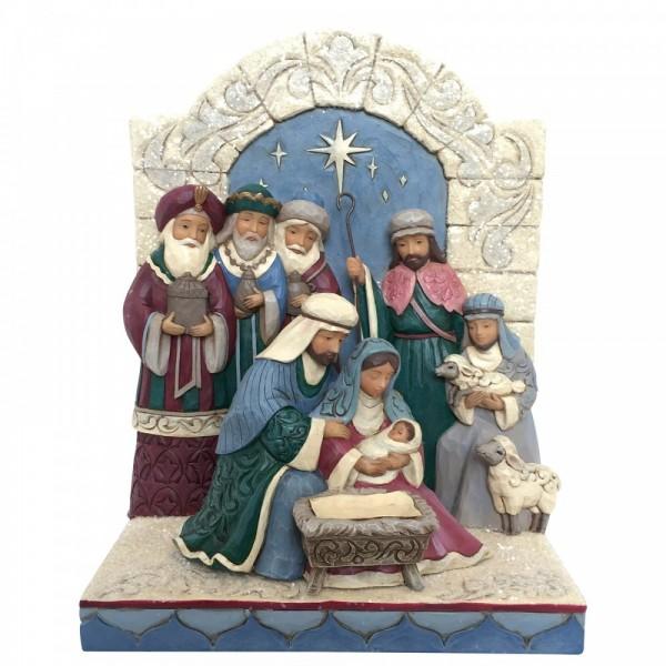 Heartwood Creek, Jim Shore, Unto Us A King Is Born, Unter uns wurde ein König geboren, Holy Family, Heilige Familie, Christi Geburt
