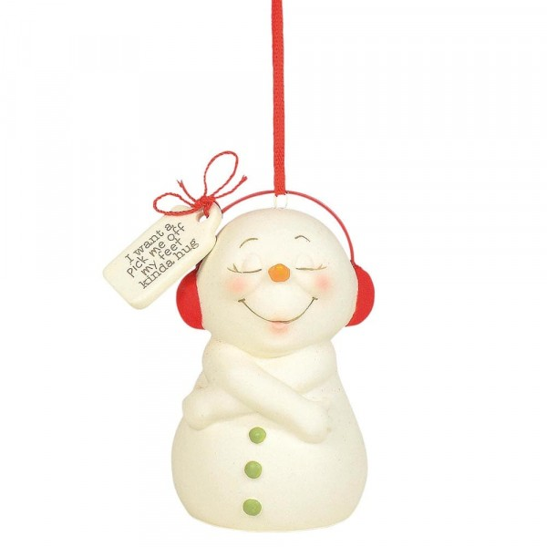 Kristi Jensen Piero, Snowpinions, Snowbabies, Department 56, Schneemann, Ornament, Anhänger, Pick Me Off My Feet Hug