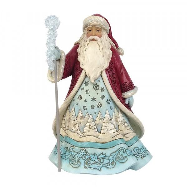 Jim Shore, Heartwood Creek, Jim Shore Weihnachten, 6009485, Winter Wonderland Santa with Snowflake, Weihnachtsmann mit Schneeflocke, Jim Shore Santa, Jim Shore Weihnachtsmann, Heartwood Creek Santa, Heartwood Creek Weihnachtsmann