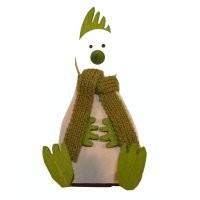 """Hahn """"Putte"""" sitzend, grün"""