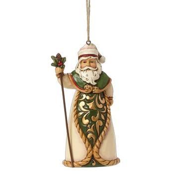 Heartwood Creek, Jim Shore, Green & Ivory Santa Ornament, Weihnachtsmann, Anhänger