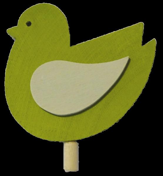 Sebastian Design, Candlering, Kerzenring, Skandinavischer Holzkranz, Skandinavische Kerzenringe, limettenfarbener Vogel, 10-400-140