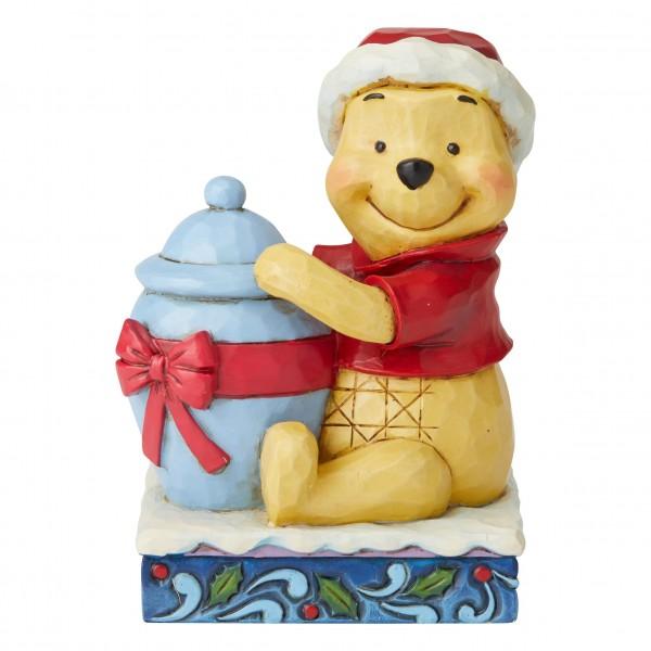 Disney Traditions von Jim Shore, Holiday Hunny, Winnie the Pooh, Winnie Puuh, Weihnachtsfigur