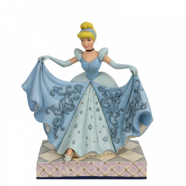 Disney Traditions , Jim Shore, Disneyfigur, Disney Figur, Cinderella Glass Slipper, Cinderella mit Glasschuh