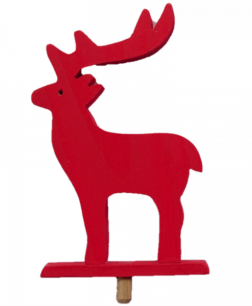 Sebastian Design, Kerzenringe, Holzkränze, Steckfiguren, roter Elch, Elch, rot, großes Geweih