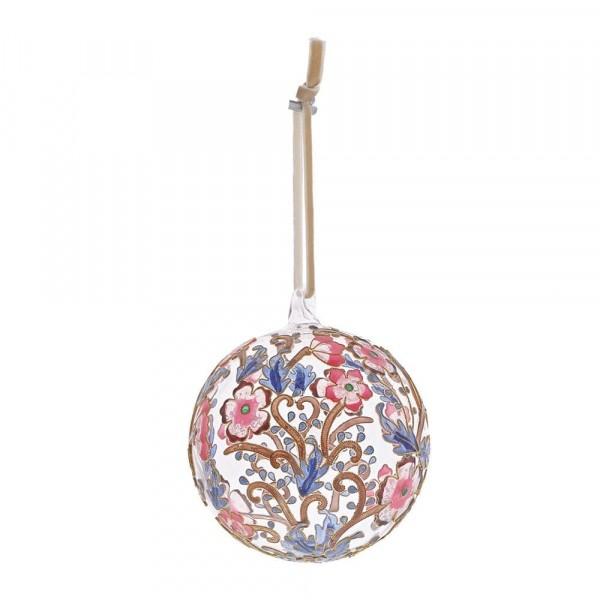Enesco's Treasury of Ornaments, handbemalt, mundgeblasen, Pink & Blue, Glaskugel, Anhänger