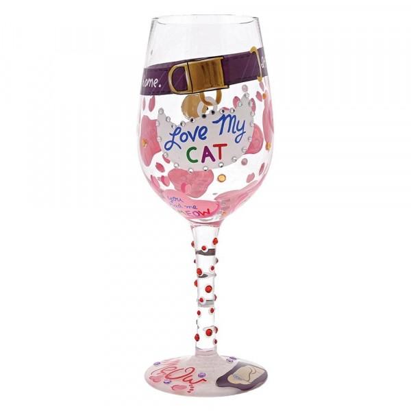 Lolita Glas, Lolita Gläser, Lolita Weinglas, Lolita Weingläser, Love My Cat, Ich liebe meine Katze, Katzen