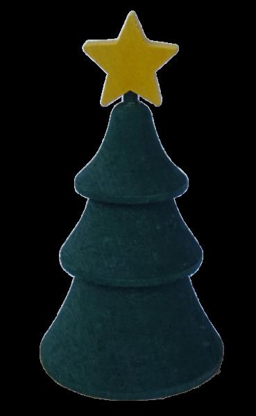 Sebastian Design, Candlering, Kerzenring, Skandinavischer Holzkranz, Skandinavische Kerzenringe, Tanne mit Stern, Tanne, Weihnachtsbaum, 46-849