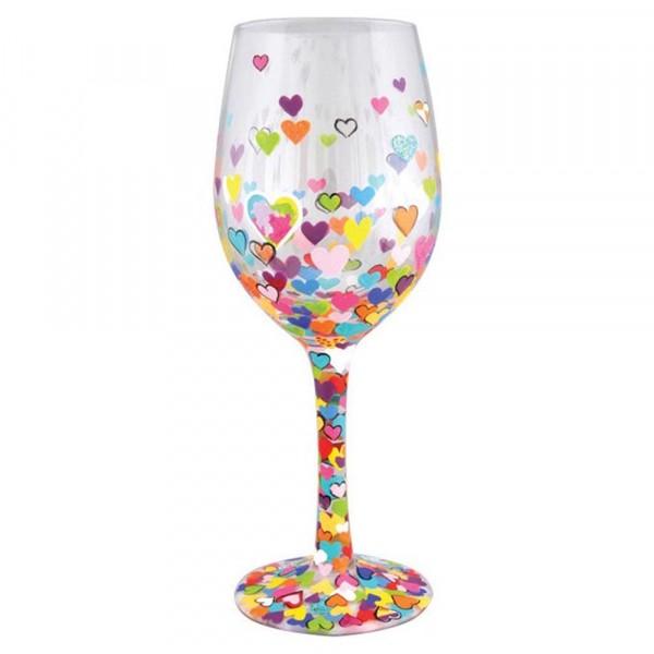Lolita Glas, Lolita Gläser, Lolita Weinglas, Lolita Weingläser, Hearts-A-Million, Millionen von Herzen, Valentinstag