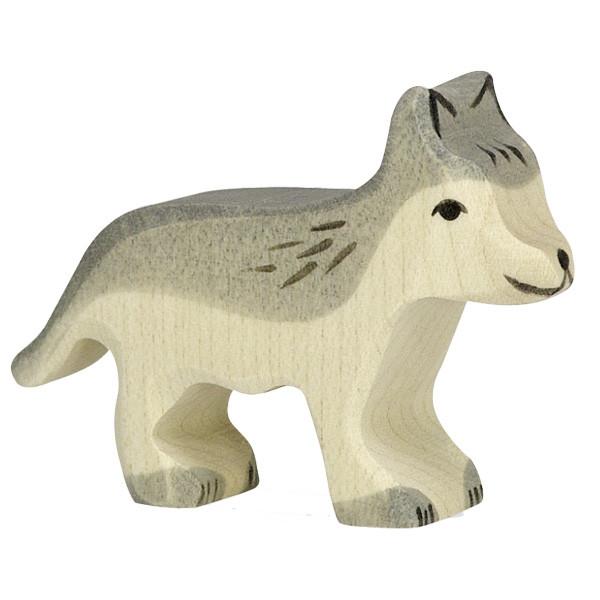 Sebastian Design, Kerzenring, Kerzenringe, Candle Ring, Candlerings, Holzkranz, Steckfigur, Wolf, Wölfchen, 80110