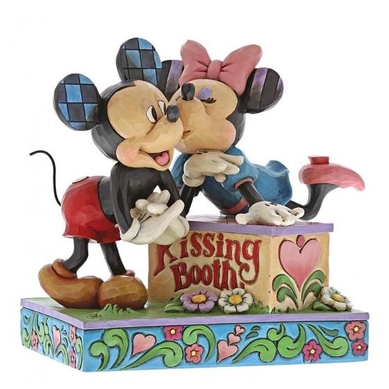 Disney Traditions, Jim Shore - Kissing Booth Mickey & Minnie / Micky & Minnie