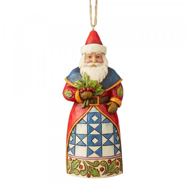 Heartwood Creek, Jim Shore, Santa with Holly, Weihnachtsmann mit Stechpalme, Ornament, Anhänger
