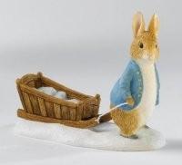 Beatrix Potter, Peter Rabbit, Peter with Sledge, Peter Hase, Peter mit Schlitten