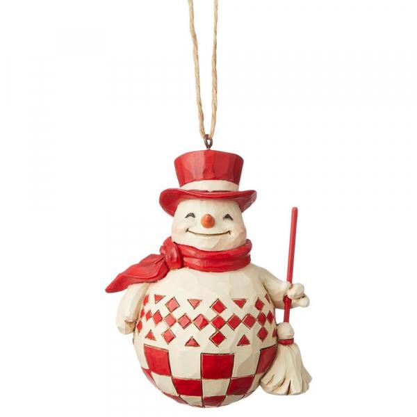 Heartwood Creek, Jim Shore, Nordic Noel Snowman Ornament, Schneemann Anhänger, Nordische Weihnachten
