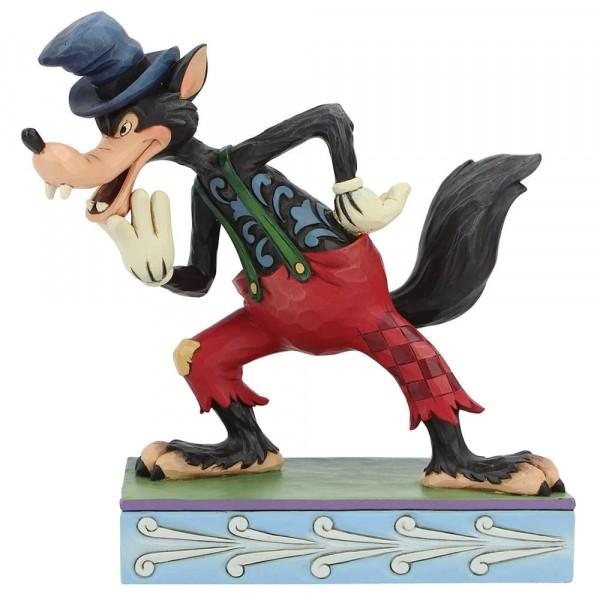 Disney Traditions, Jim Shore, I'll Huff and I'll Puff, Big Bad Wolf. Böser Wolf, Die drei kleinen Schweinchen, Three Little Pigs