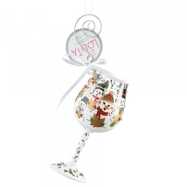 Lolita Glas, Lolita Gläser, Lolita Weinglas, Lolita Weingläser, Singing in the Snow Ornament, Anhänger, 6002992