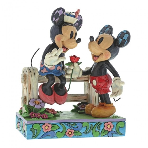 Disney Traditions, Jim Shore - Blossoming Romance Mickey & Minnie, Micky & Minnie, Enesco, 6000969