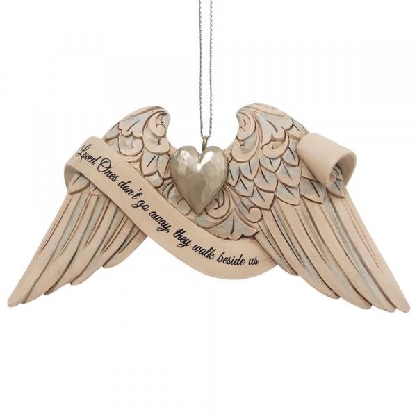 Jim Shore, Heartwood Creek, 6009571, Jim Shore Angel Wings Bereavement, Engelsflügel Trauer, Volkskunst