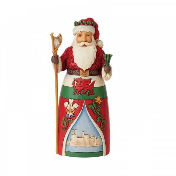 Jim Shore, Heartwood Creek, Jim Shore Weihnachten, 6008913, Welsh Santa, Walisischer Weihnachtsmann, Around the World Collection, Jim Shore Santas, Jim Shore Weihnachtsmann, Heartwood Creek Weihnachtsmann, Jim Shore Santa