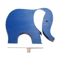 Elefant blau für Kerzenring groß