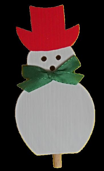 Sebastian Design, Kerzenringe, Steckfiguren, Holzkränze, Schneemann mit Hut, rot