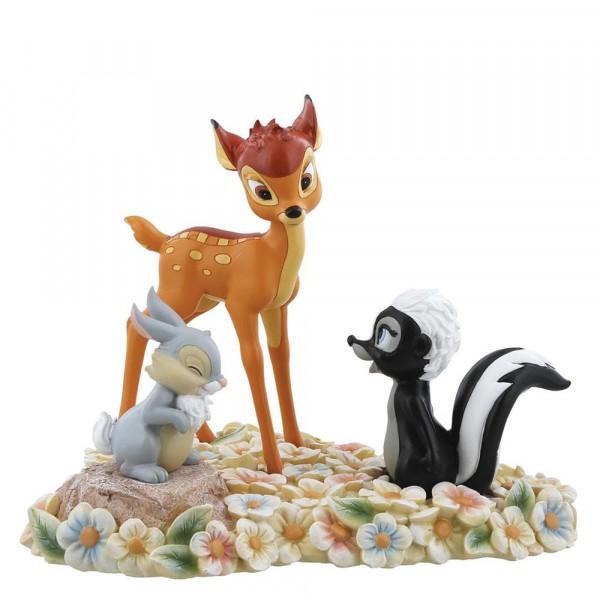 Enchanting Disney, Pretty Flower, Hübsche Blume, Bambi, Thumper and Flower, Bambi, Klopfer