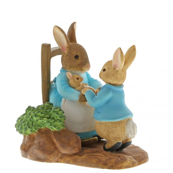 Beatrix Potter, Beatrix Potter Collection, Peter Rabbit, Benjamin Bunny, Flopsy, Jemima Puddle-Duck, Jeremy Fisher, A29862, At Home by the Fire with Mummy Rabbit