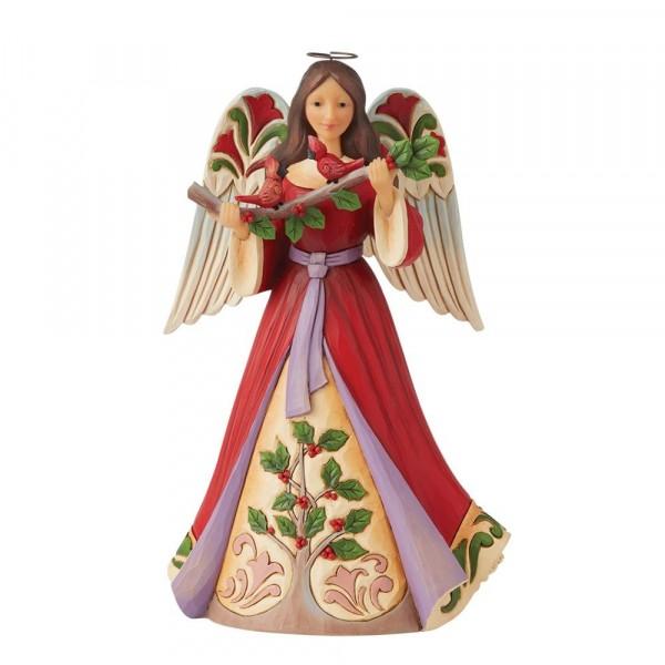 Jim Shore, Heartwood Creek, Jim Shore Engel, Jim Shore Angel, 6008921, Christmas Angel with Holly, Weihnachtsengel mit Stechpalme