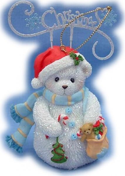 Cherished Teddies, Christmas Snowbear Ornament