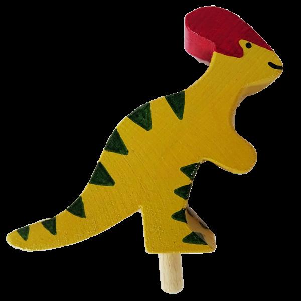Sebastian Design, Kerzenringe, Kerzenring, skandinavische Kerzenringe, Holzkranz, Holzkränze, skandinavische Dekoration, Dinosaurier, Parasaurolophus, HK-D-2020-02