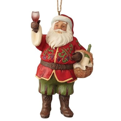 Vineyard Santa Ornament