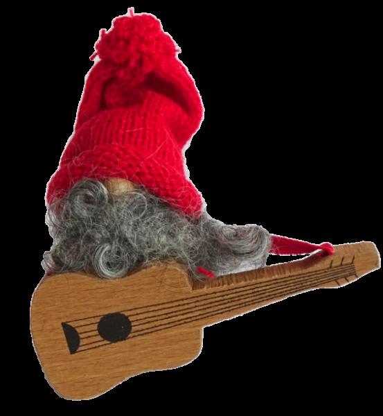 Sebastian Design, Candlering, Kerzenring, Kerzeringe, Holzkränze, Skandinavischer Holzkranz, Skandinavische Kerzenringe, Wichtel mit Gitarre
