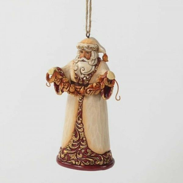 Ivory & Gold Santa Hanging Ornament