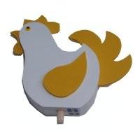 Huhn für großen Kranz, gelb