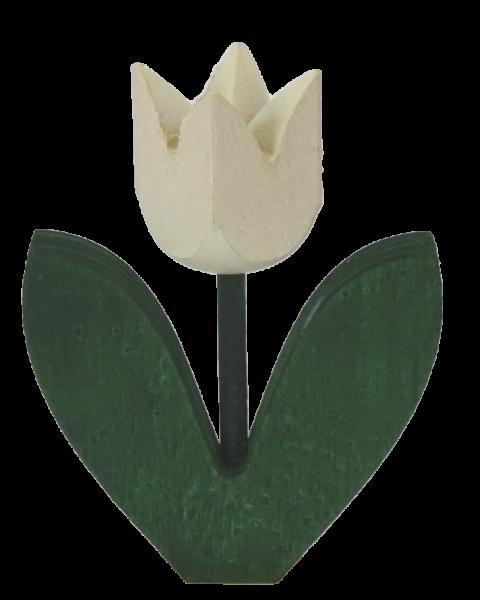 Sebastian Design, Candlering, Kerzenring, Kerzenringe, Skandinavischer Holzkranz, Skandinavische Kerzenringe, Tulpe, Tulpe mit 2 Blatt, Tulpe mit zwei Blättern, weiße Tulpe, 46-682-102