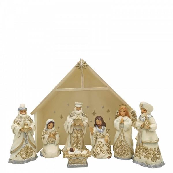 Heartwood Creek, Jim Shore, Blessed Birth in Bethlehem, Mini Nativity Set, 6006651, Weihnachtskrippe