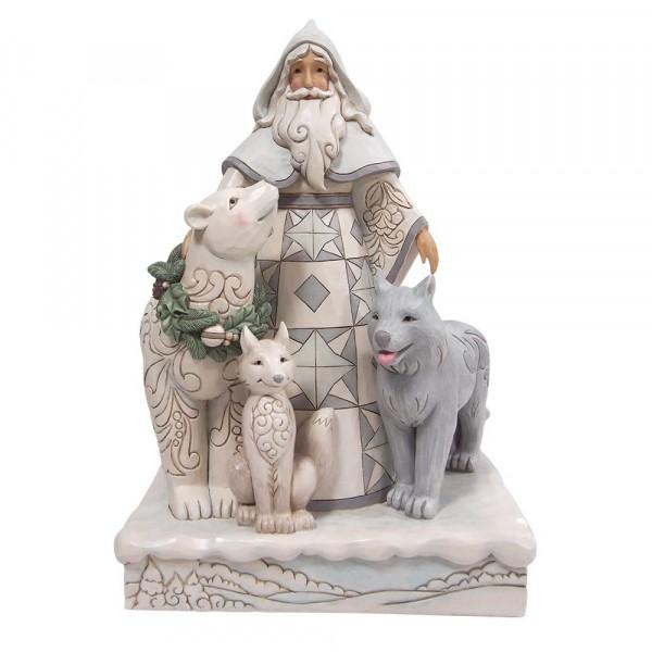 Jim Shore, Heartwood Creek, Jim Shore Weihnachten, ND6008858, Santa with Wreath and Animals Statue, Weihnachtsmann mit Tieren, Jim Shore Santa, Jim Shore Weihnachtsmann, Heartwood Creek Santa, Heartwood Creek Weihnachtsmann
