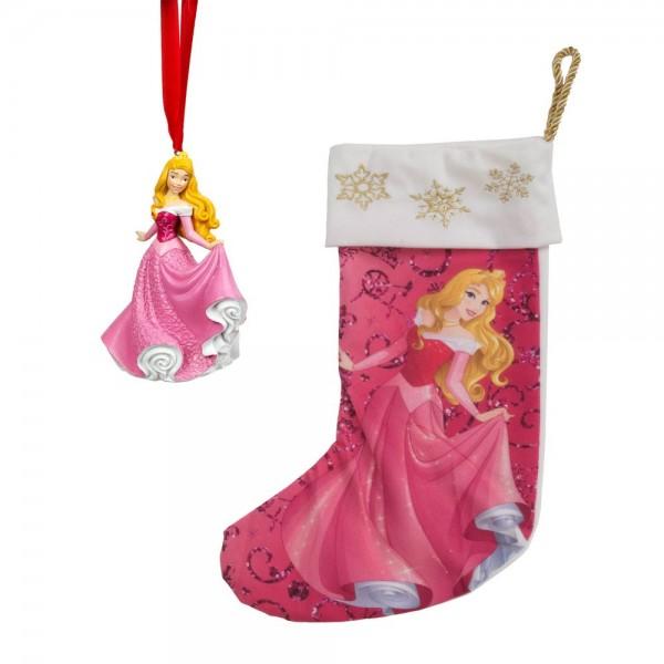 Disney by Widdop, Widdop. Walt Disney Figuren, Walt Disney Ornament, Weihnachtsanhänger, Aurora, Nikolausstiefel, RJ483