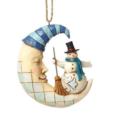 Heartwood Creek, Jim Shore, Crescent Moon Snowman Ornament, Schneemann, Anhänger