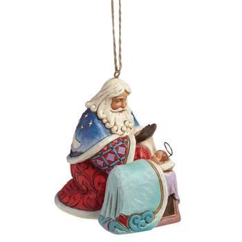 Heartwood Creek, Jim Shore, Santa with Baby Jesus Ornament, Weihnachtsmann mit Jesus, Anhänger
