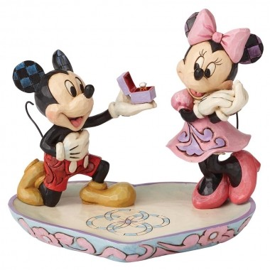 Disney Traditions, Jim Shore - A Magical Moment Mickey & Minnie / Micky & Minnie, Heiratsantrag